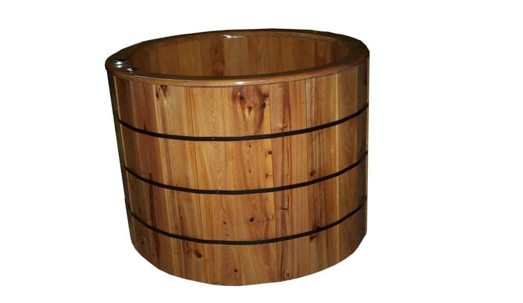 Barrel Wooden Ofuro Bathtub Standalone American Wood Tubs