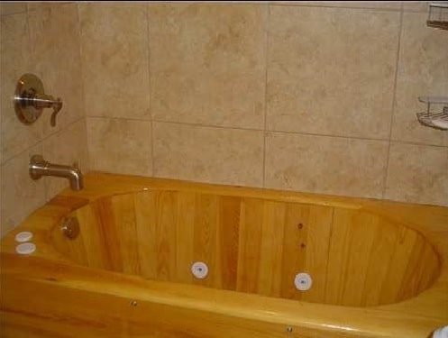 Built In Wood Bathtub With Jets Cypress 60 Quot Length